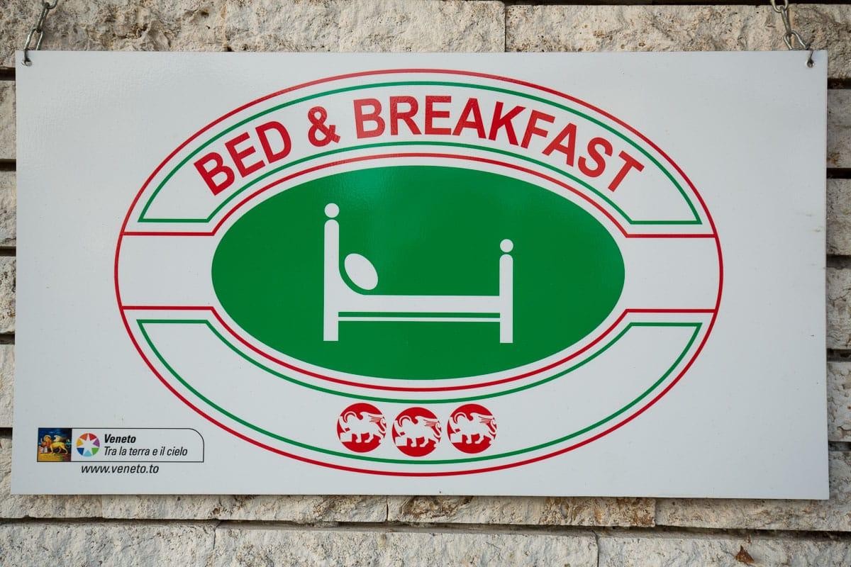 Villa Irma bed & breakfast marano vicentino vicenza insegna